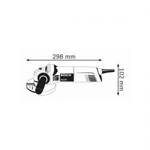 Amoladora Bosch GWS 1000 medidas