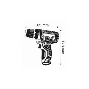 Bosch GSR 12V-15 Professional Dimensiones